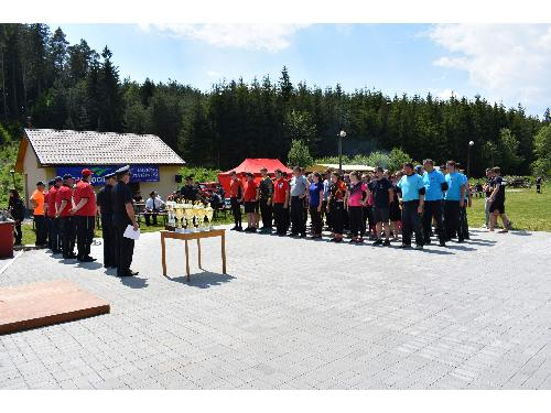 Okresní kolo v požárním sportu v Bobrové