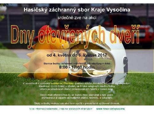 Den otevřených dveří stanic HZS Kraje Vysočina
