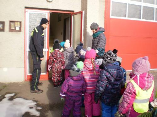 Návštěva dětí ze školky